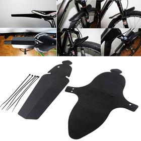 Juego De Guardabarros Negros Para Bicicleta De Mtb O Ruta.