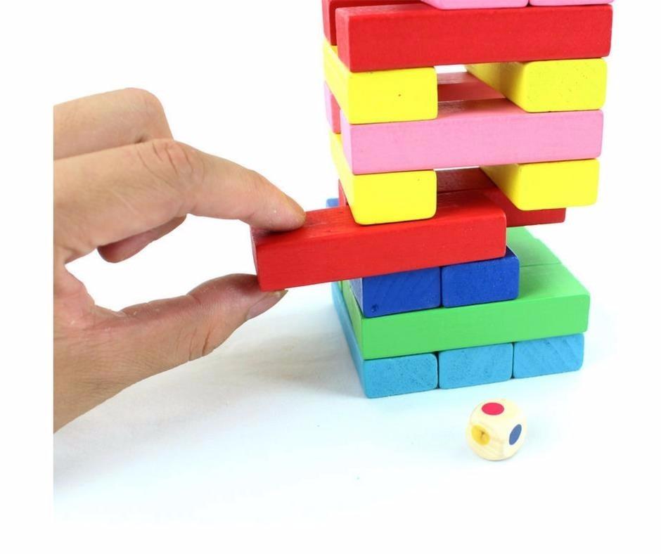 Juego De Habilidad Para Ninos Y Ninas Jenga De Colores S 29 95