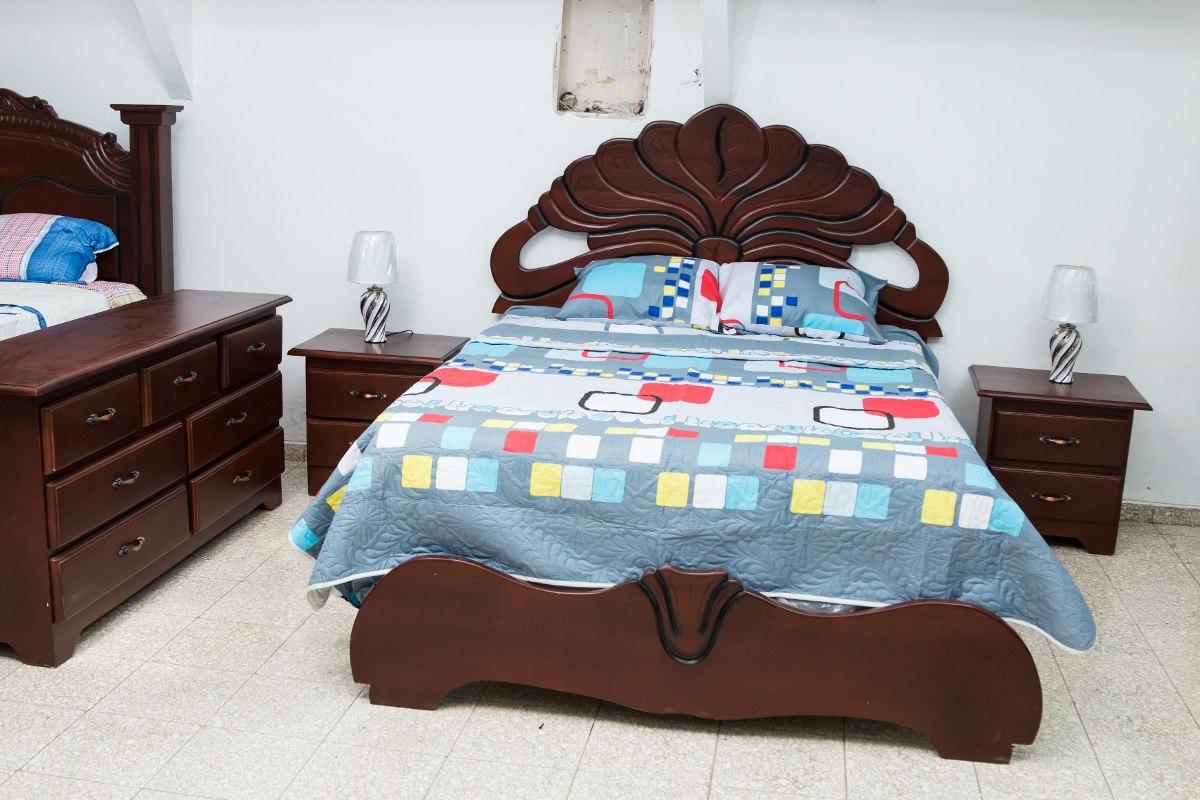 Juego de habitaci n flor dorado en caoba 34 en - Juego decorar habitacion ...