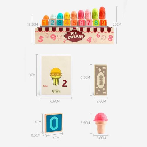 juego de helados didáctico - heladería - vamos a jugar