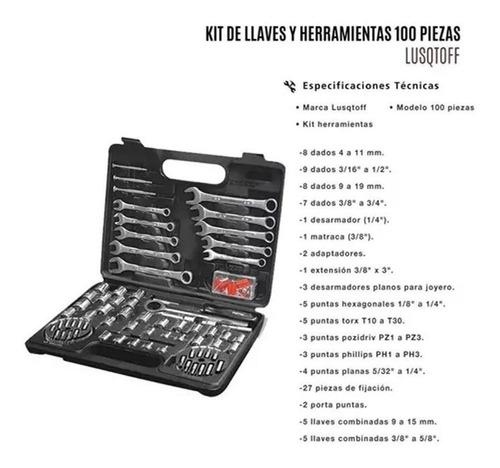 juego de herramientas 100 piezas petrul 22980 tubos + llaves