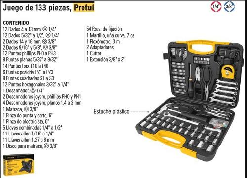 juego de herramientas 133 piezas p24223 envio dhl