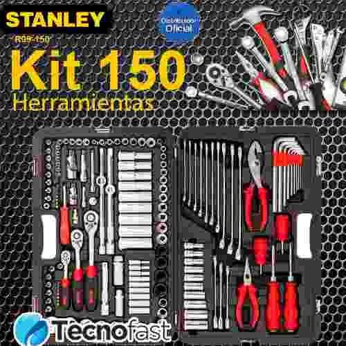 juego de herramientas caja kit set 150 piezas stanley racing