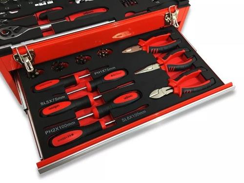 juego de herramientas set 90 piezas caja metálica udovo