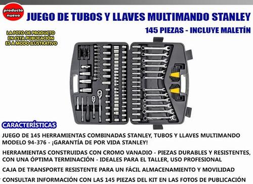 juego de herramientas tubos llaves stanley 145 pz. v urquiza
