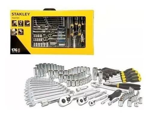 juego de herramientas tubos stanley stmt74290 176 pz maleta