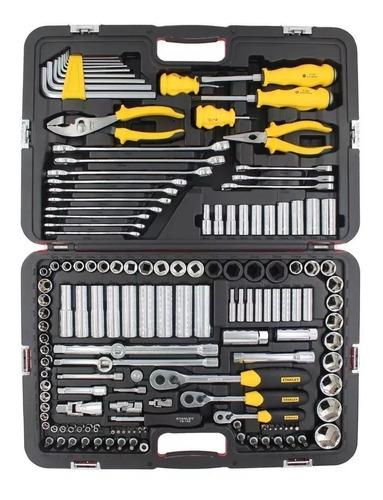 juego de herramientas tubos y llaves racing 150 pzas stanley