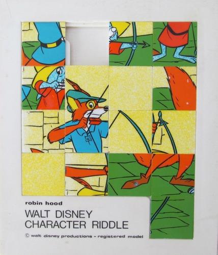 juego de ingenio retro - robin hood - disney