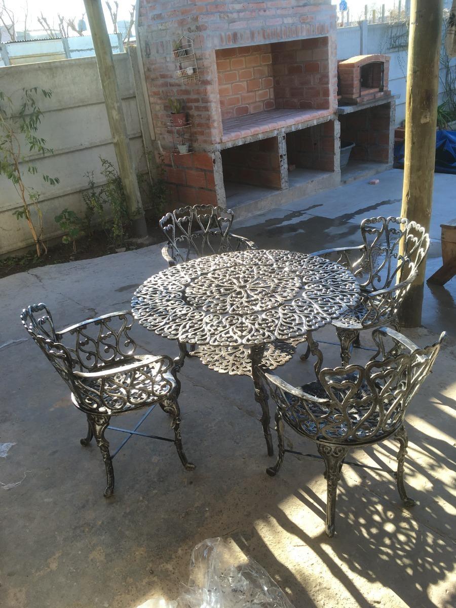 Juego De Jardin Boston 4 Aluminium Confort