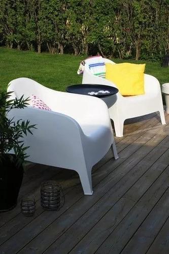 juego de jardín de 2 sillones skarpo blanco gardenlife