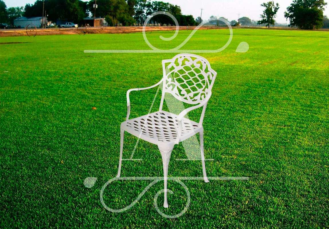 Juego de jard n de aluminio chateaux mesa 1 mt y 4 sillones en mercado libre for Juego de jardin fundicion aluminio