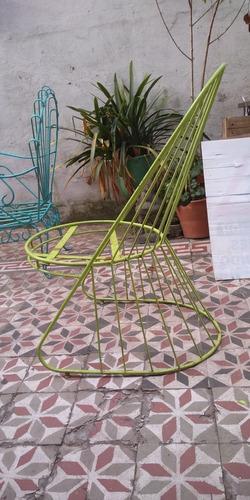 juego de jardín de hierro 1 mesa 3 sillones
