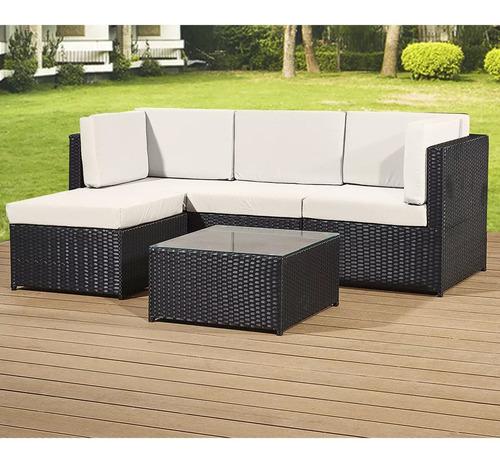 juego de jardin - living patio - exteriores + almohadones