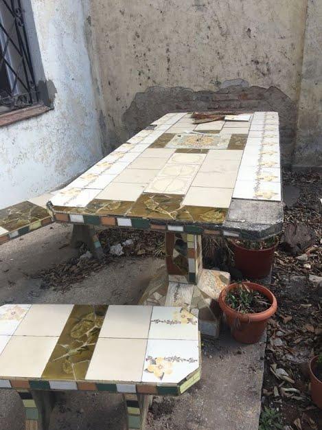 Juego De Jardin Mesa Y Cuatro Sillas A Reciclar 2 899 00 En
