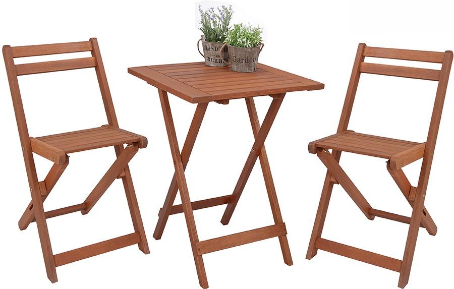 Juego de jardin silla mesa madera divino en - Sillas madera jardin ...