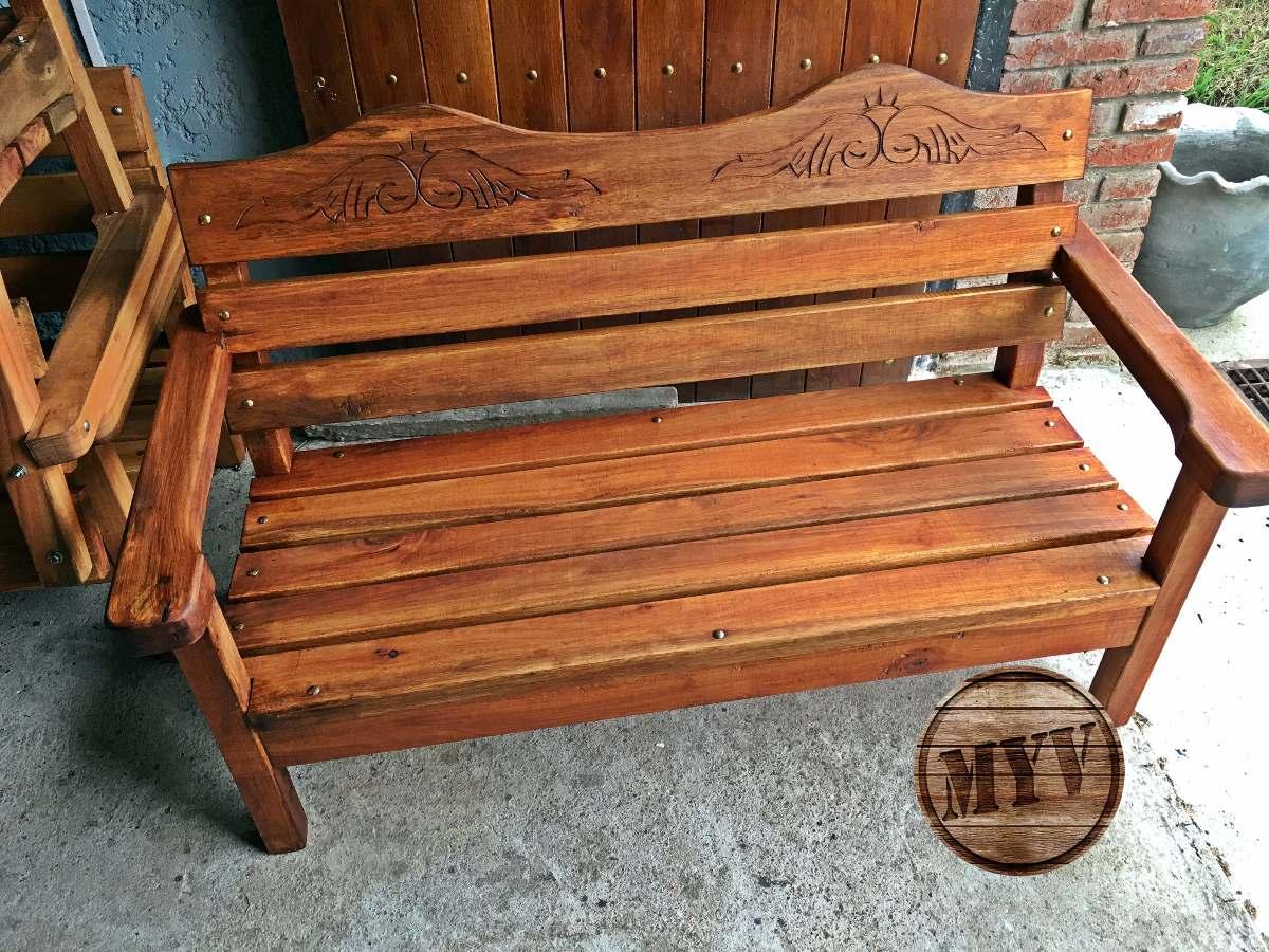 Juego de jardin sillones mesa madera descanso patio for Juego de sillones de jardin