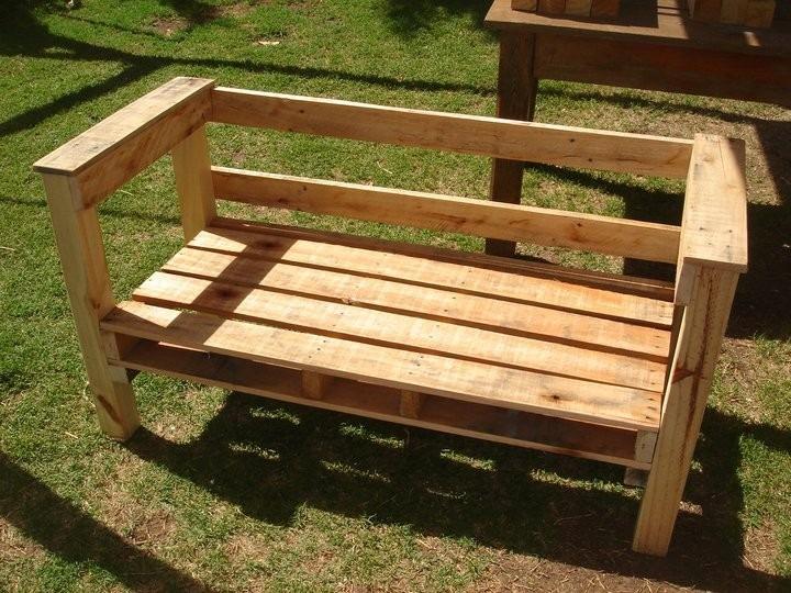 Juego de jardin sillones mesita rusticos madera tipo for Sillones de madera para jardin
