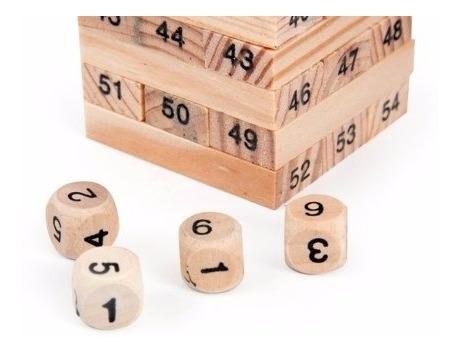 juego de jenga, wiss toy o torre infernal 54 piezas