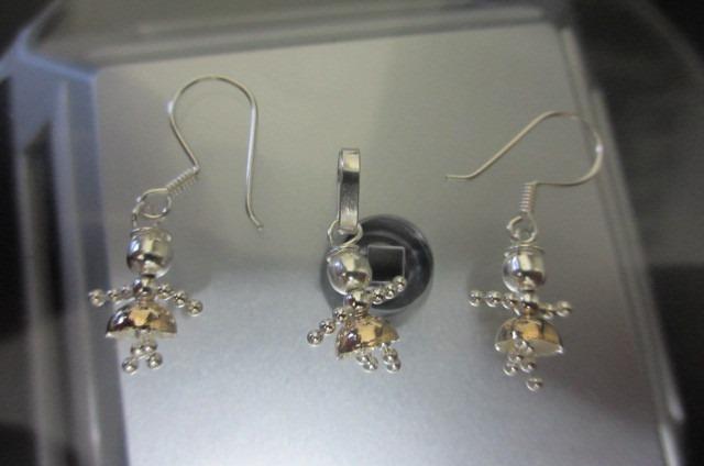 Juego de joyas de plata c ba o oro ni as colombianas s for Banos electroliticos para joyeria