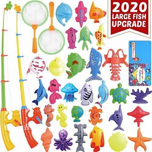 juego de juguetes de piscina de pesca magnetica cozybomb par