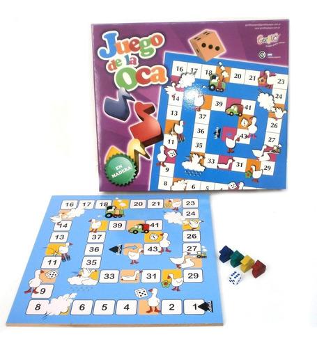 juego de la oca gordillo de madera planeta juguete