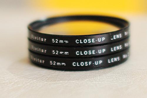 juego de lentillas closeup de 52mm