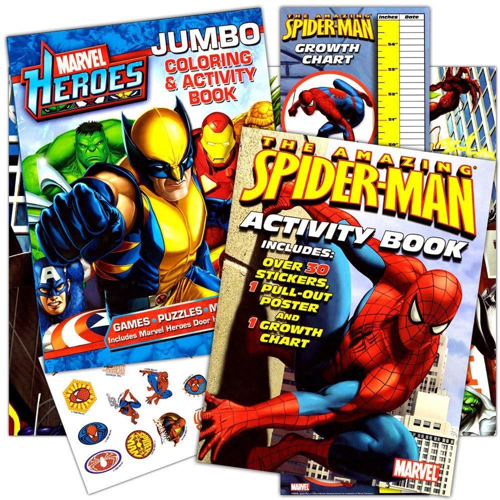 Juego De Libros Para Colorear Spiderman De Marvel Heroes