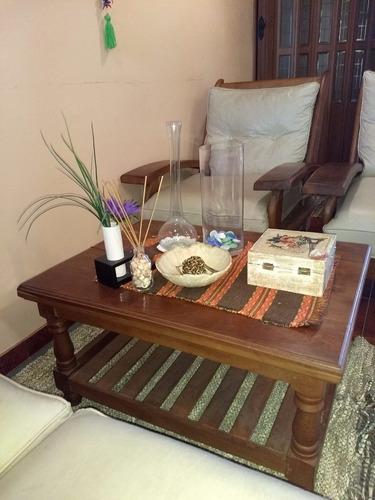 juego de living cebolla, con mesa ratona algarrobo