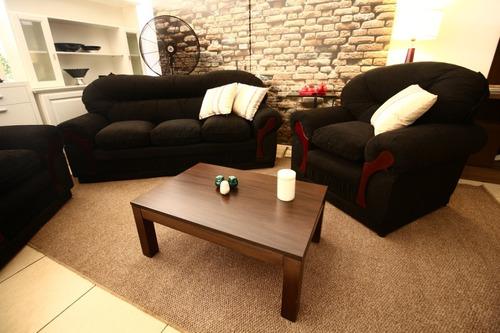 juego de living de 3 cuerpos (sofá + 2 individuales)