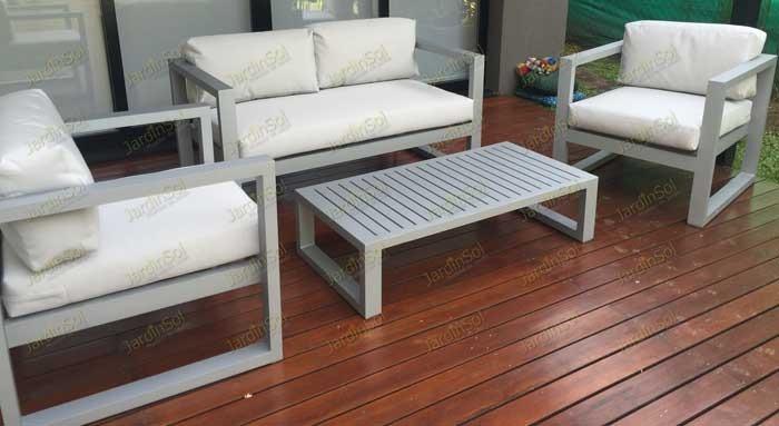Juego De Living De Aluminio Para Exterior Y Jardin Sidney