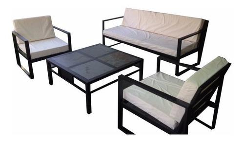 juego de living fierro terraza modelo petrohue