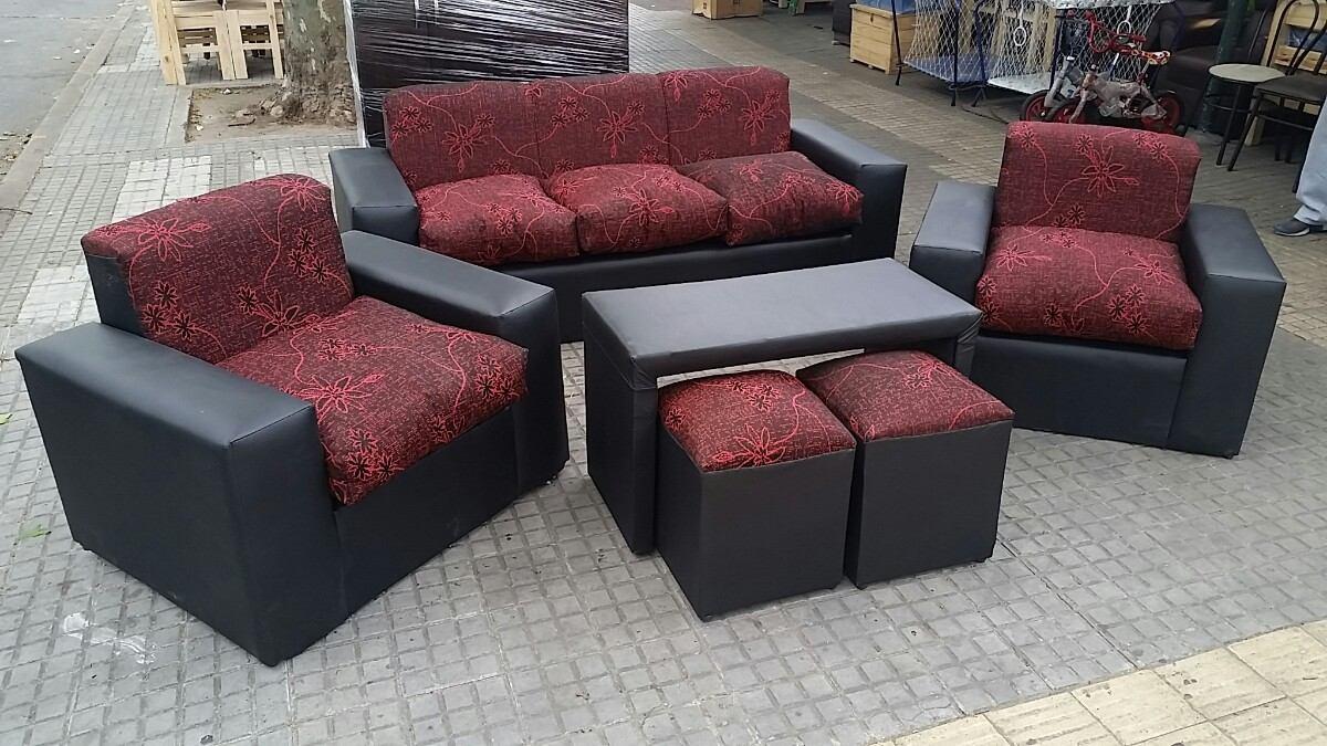 Juego de living minimalista en mercado libre for Sofas y sillones a juego