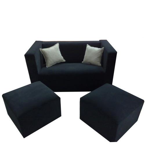 juego de living, sillon de 2 cuerpos + 2 islas, sofa moderno
