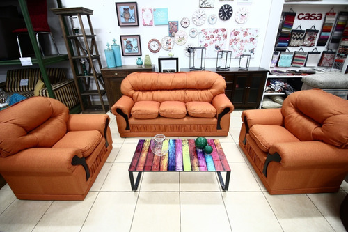 juego de living (sofa de 3 cuerpos + dos sofás individuales)