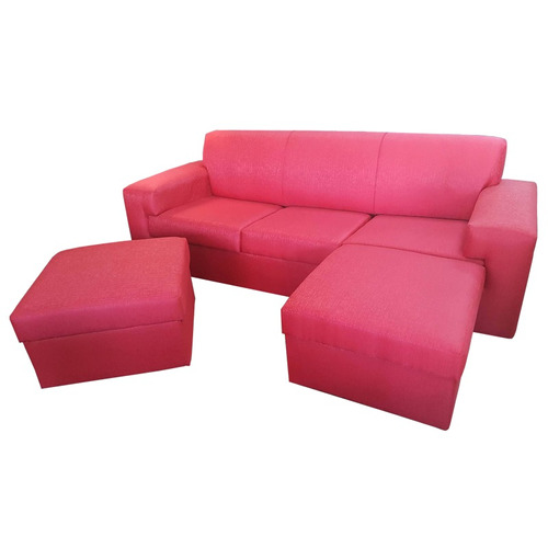 juego de living sofa de 3 cuerpos mas 2 islas minimalista gh