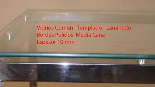 juego de living vidrio 1.6 x 0.80 + seis sillas cromadas