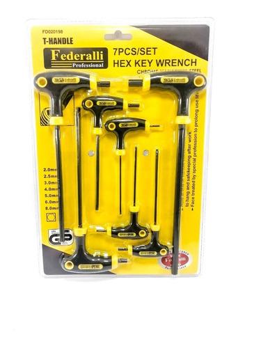 juego de llaves bristol en t largas 7 piezas para fuerza
