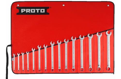 juego de llaves combinadas marca proto mm 15 pza