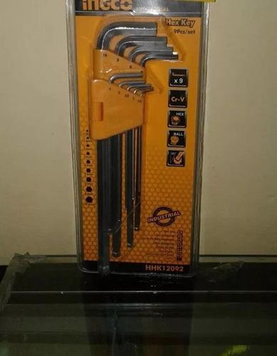 juego de llaves torx 9pcs (l) marca ingco