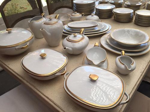 juego de loza de lujo vajilla alemana porcelana antigua