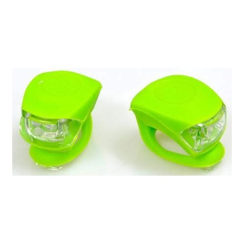 juego de luces led de silicona para bicicleta