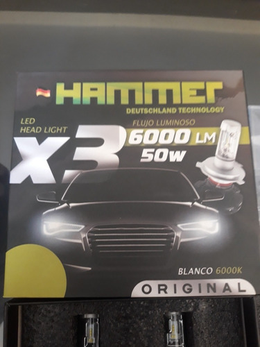juego de luces led hammer x3 h4yh11