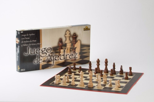 juego de madera profesional economico c/tablero-ventajedrez