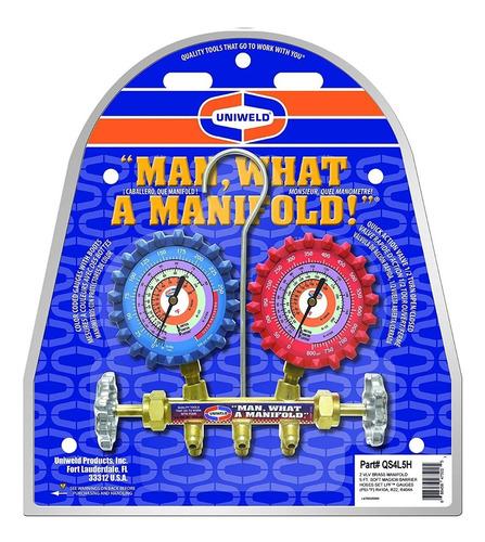 juego de manometros uniweld r410/r22/r134/r404