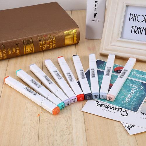 juego de marcadores al alcohol para diseño/arte, 60 colores