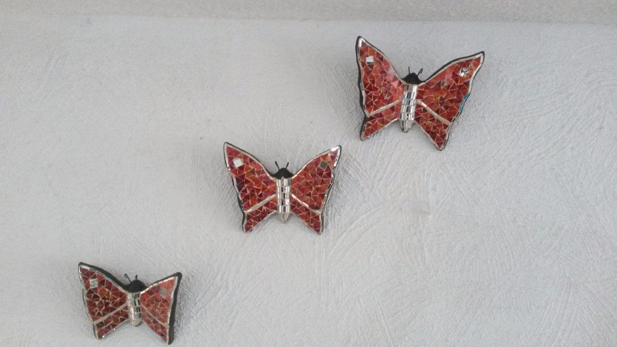 Juego de mariposas de cristal en pared en - Mariposas para pared ...
