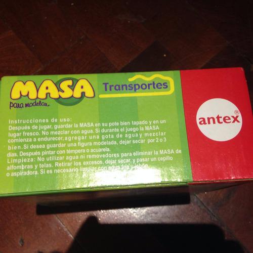 juego de masa antex transportes