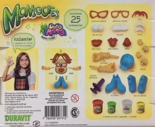 juego de masa monigotes duravit papa sr potato  diverti toys
