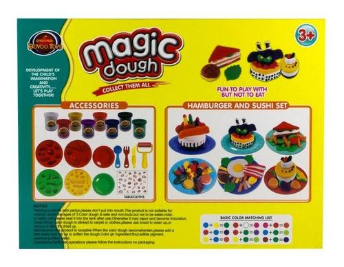 juego de masa para modelar torta de cumpleaños