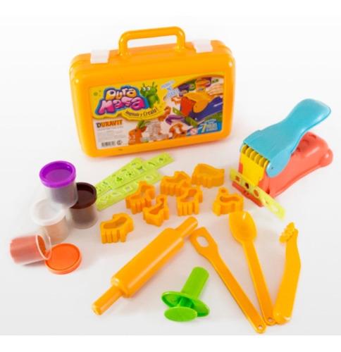 juego de masas infantiles duravit  c/accesorios en valija